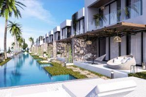 在塞浦路斯海滨 10 出售平房公寓和顶层公寓